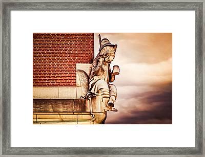 Renard The Fox Framed Print by Steven Michael