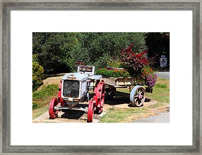 Renault Flower Bed Framed Print
