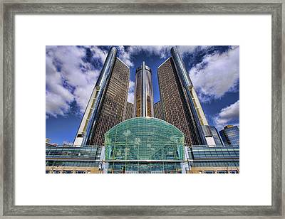 Rencen Detroit Gm Renaissance Center Framed Print by Gordon Dean II