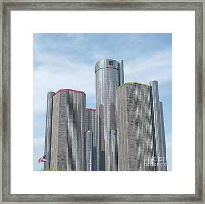 Ren Cen Towers Framed Print by Ann Horn