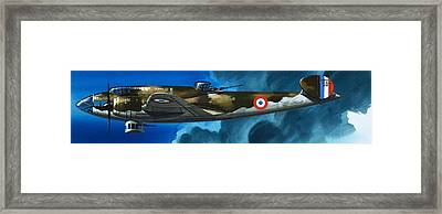 French Aircraft Of World War II  French Bomber Framed Print by Wilf Hardy