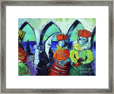 Rendez-vous In Venice Framed Print by Mona Edulesco