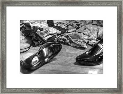 Rendezvous Do Not Disturb 03 Bw Framed Print by Andy Lawless