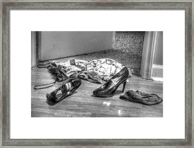 Rendezvous Do Not Disturb 04 Bw Framed Print by Andy Lawless