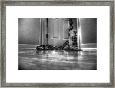 Rendezvous Do Not Disturb 05 Bw Framed Print by Andy Lawless