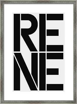 Rene Framed Print by Three Dots