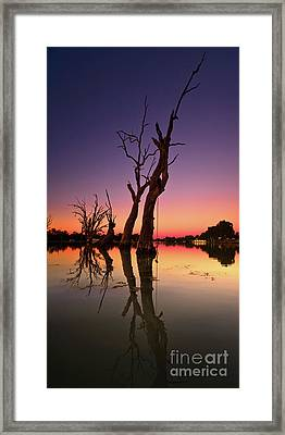 Framed Print featuring the photograph Renmark South Australia Sunset by Bill Robinson