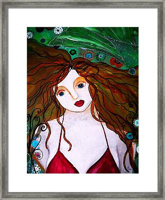 Framed Print featuring the painting Rennaissance Mermaid by Pristine Cartera Turkus