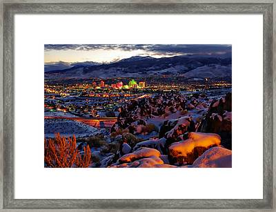 Reno Clearing Snowfall Framed Print by Scott McGuire