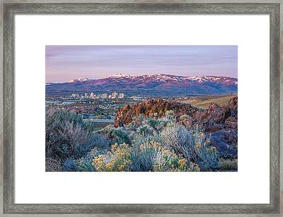 Framed Print featuring the photograph Reno Nevada Spring Sunrise by Scott McGuire