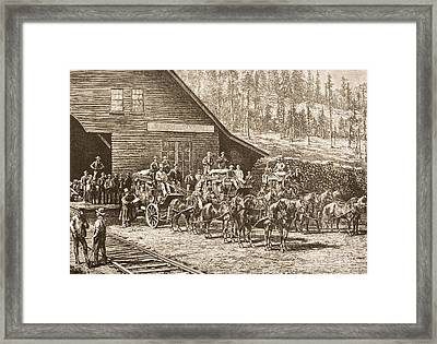 Reno Station Nevada On The Central Framed Print