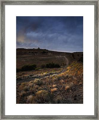 Reno Sunset Framed Print