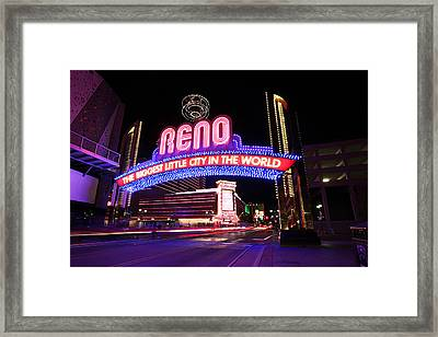 Framed Print featuring the photograph Reno - The Biggest Little City In The World by Shawn Everhart