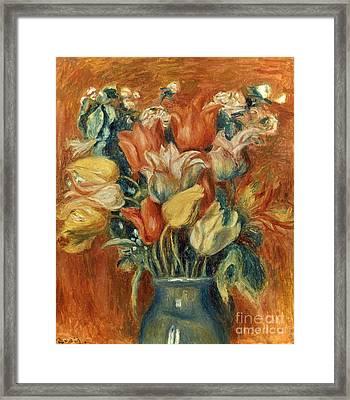 Renoir: Bouquet Of Tulips Framed Print by Granger