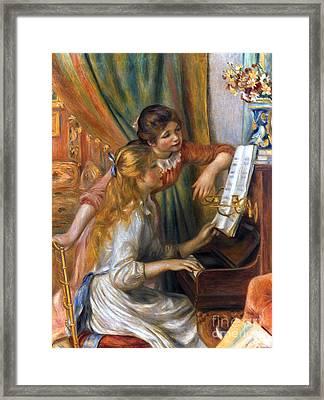 Renoir: Girls/piano, 1892 Framed Print by Granger