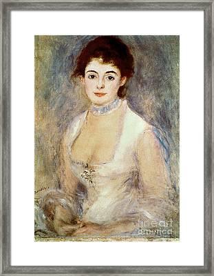 Renoir: Madame Henriot Framed Print by Granger