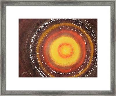 Renova Original Painting Framed Print by Sol Luckman