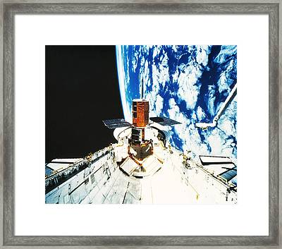 Repaired Solar Maximum Misson Onboard Framed Print by NASA / Science Source