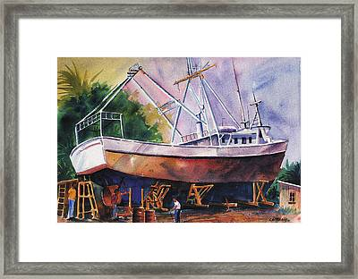 Repairs Framed Print by Chuck Creasy