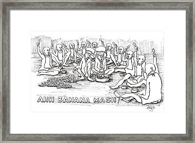Framed Print featuring the drawing Repast by R  Allen Swezey