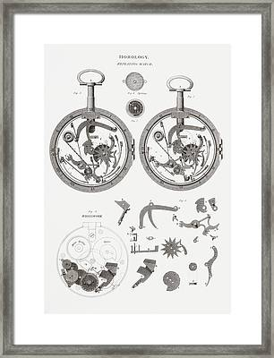 Repeating Watch. From The Cyclopaedia Framed Print by Vintage Design Pics