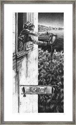 Repent Framed Print