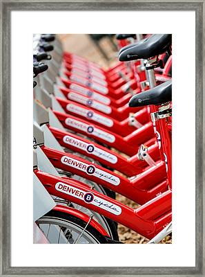 Repetition And Cycle Framed Print by Joshua Ball