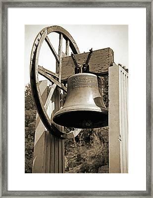 Replica Of Liberty Bell 1 Framed Print by Steve Ohlsen