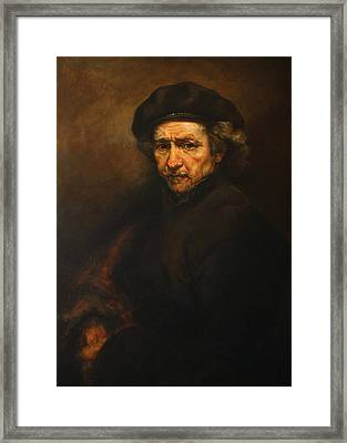 Replica Of Rembrandt's Self-portrait Framed Print