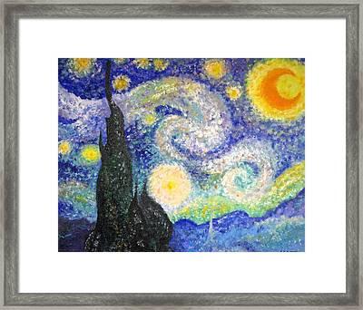 Replica Of Van Gogh Framed Print by Katerina Wagner