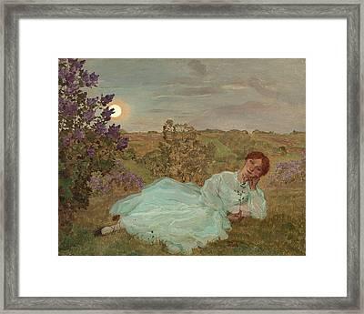 Repose At Sunset Framed Print