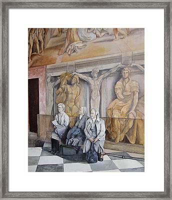 Reposo En El Vaticano Framed Print by Tomas Castano