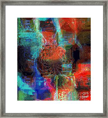 Representational Of Things In Between Framed Print by Fania Simon
