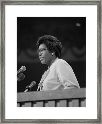 Representative Barbara Jordan Delivers Framed Print by Everett