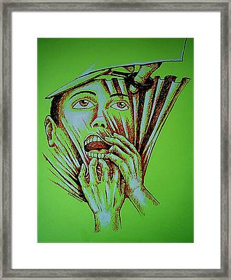 Repression Framed Print by Paulo Zerbato
