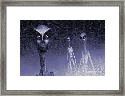 Reptilian Aliens Framed Print