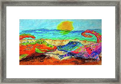 Reptilian Love Framed Print