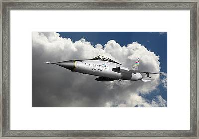 Republic F-105 Thunderchief Framed Print by Larry McManus