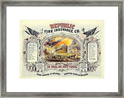 Republic Fire Insurance Framed Print by Charlie Ross