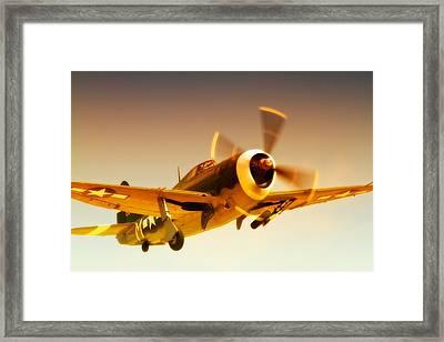 Republic P-47 Thunderbolt 2011 Chino Air Show Framed Print by Gus McCrea