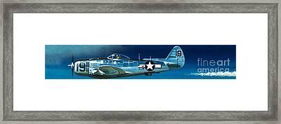 Republic P-47n Thunderbolt Framed Print by Wilf Hardy