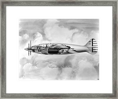Republic Rocket Framed Print