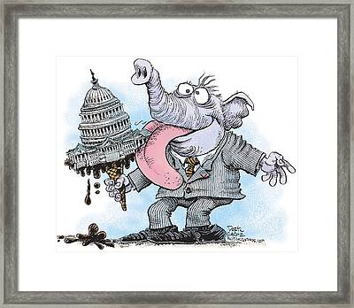 Republicans Lick Congress Framed Print