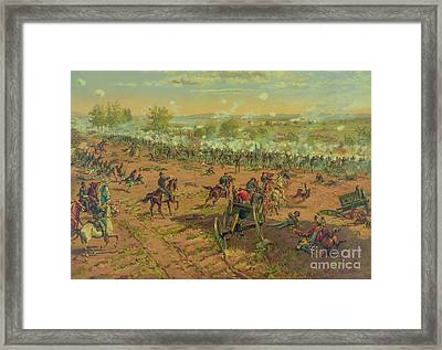 Repulse Of Pickett's Charge At Gettysburg One Framed Print