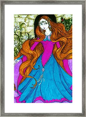 Framed Print featuring the drawing Repunzel by Rae Chichilnitsky