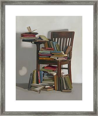 Framed Print featuring the painting Required Reading by Gail Chandler