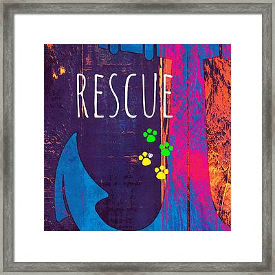 Rescue Anchor Framed Print
