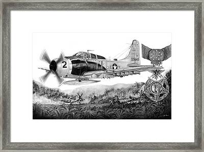 Rescue At A Shau Framed Print by Dale Jackson