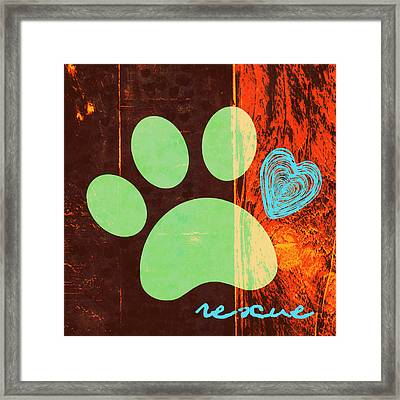 Rescue Paw 1 Framed Print