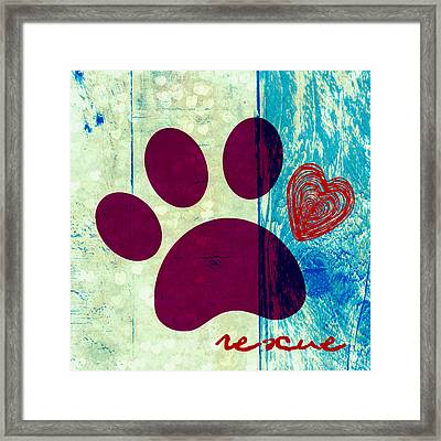 Rescue Paw 2 Framed Print